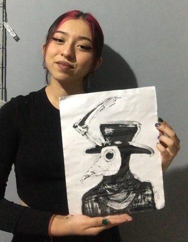 Estudiante del Tecnológico Nacional de México campus León, ofrece testimonio de su experiencia en el Taller de Artes Visuales Plásticas