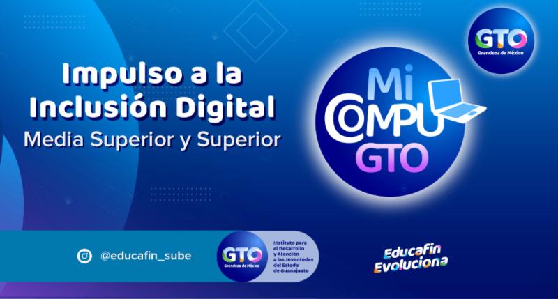 Tecnológico Nacional de México campus León llevó a cabo la 3ª. etapa de entrega de equipos de cómputo del programa Impulso a la Inclusión Digital de EDUCAFIN Mi Compu GTO.